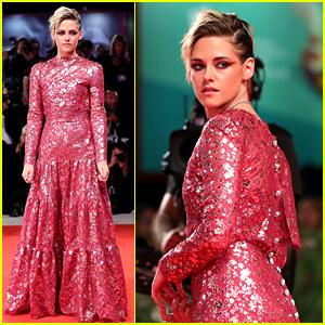 Kristen Stewart Wows in Fuschia Chanel Dress at 'Seberg' Venice Premiere!