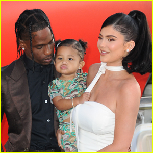 Kylie Jenner & Daughter Stormi Support Travis Scott at 'Look Mom I Can Fly' Premiere!