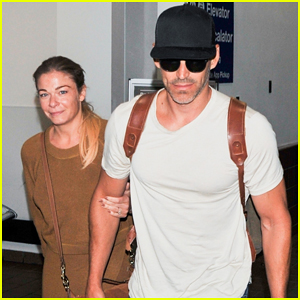 LeAnn Rimes & Hubby Eddie Cibrian Touch Down in L.A. After Mini Vaca!