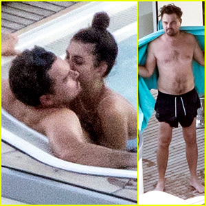 Leonardo DiCaprio & Girlfriend Camila Morrone Cozy Up in the Hot Tub on Luxury Yacht