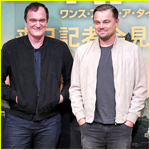 Leonardo DiCaprio Joins Quentin Tarantino at 'Once Upon a Time in Hollywood' Japan Premiere Press Conference