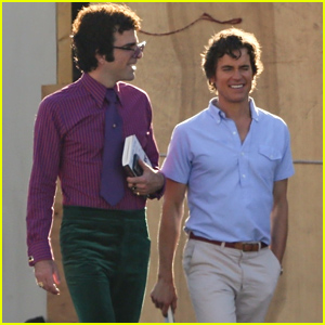Zachary Quinto & Matt Bomer Get Into Character on 'The Boys in the Band' Set