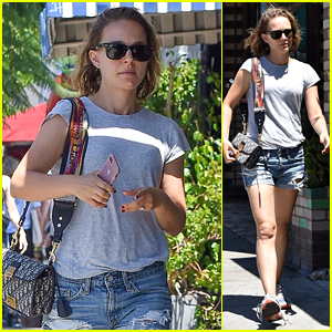 Natalie Portman Looks Cute in Denim Shorts on a Solo Stroll to Lunch