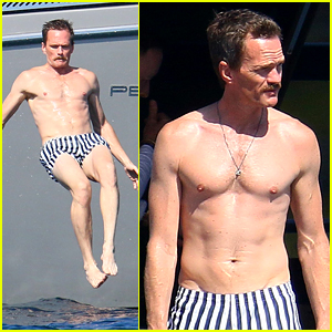 Neil Patrick Harris Goes Shirtless, Shows Off Fit Body in France!