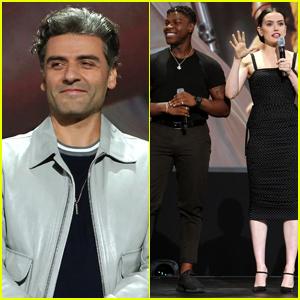 Oscar Isaac, John Boyega, & Daisy Ridley Promote 'Star Wars: The Rise of Skywalker' at D23 Expo