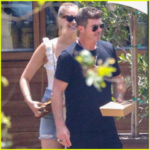 Robin Thicke & April Love Geary Enjoy Malibu Lunch Date