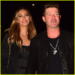 Robin Thicke & April Love Geary Step Out for Date Night in Santa Monica!