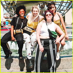Amandla Stenberg Takes Universal Studios Tour With Euphoria's Hunter Schafer & More!