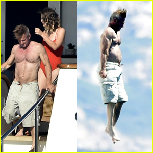 Sean Penn Jumps Into the Sea While on Vacation in Italy With Girlfriend Leila George