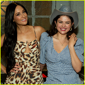 Selena Gomez Visits Kacey Musgraves Backstage with Her BFFs