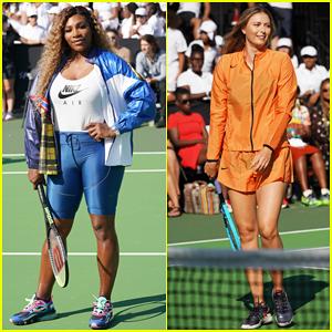 Serena Williams & Maria Sharapova Lead Nike's Queens of the Future Event!