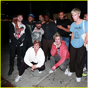 Shia LaBeouf Hangs Out With Brockhampton in West Hollywood