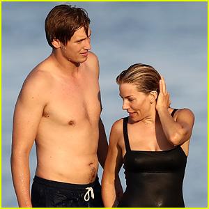 Sienna Miller & Boyfriend Lucas Zwirner Enjoy a Swim on Vacation in Saint-Tropez