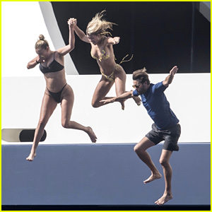 Sofia Richie & Scott Disick Jump Off A Yacht in Capri!