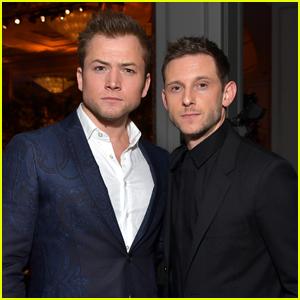 Taron Egerton & Jamie Bell Buddy Up at Hollywood Foreign Press Banquet