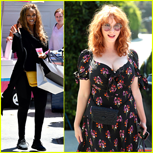 Tyra Banks & Christina Hendricks Leave the Day of Indulgence With So Much Swag!