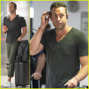 Zachary Levi Jets Out for Fan Expo Convention!
