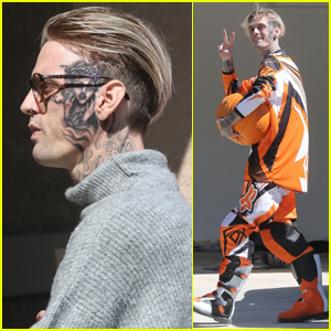 Aaron Carter Shows Off New Face Tattoo While Stepping Out in L.A.