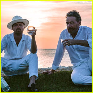 Aaron Paul Celebrates His 40th Birthday in Paradise with Bryan Cranston & More!