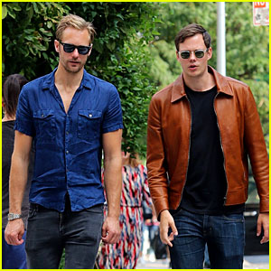 Alexander Skarsgard Hangs Out with Brother Bill in NYC After 'It' Rules Box Office