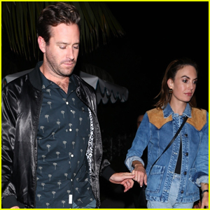 Armie Hammer & Elizabeth Chambers Hold Hands on Date Night in WeHo