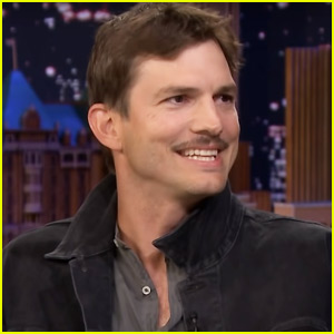 Ashton Kutcher Has a 70s Style Mustache Because of This Very Famous Singer!