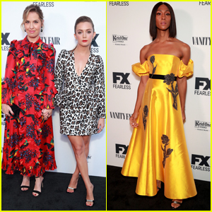 Billie Lourd, Leslie Grossman, & MJ Rodriguez Step Out for Vanity Fair & FX's Pre-Emmys Party