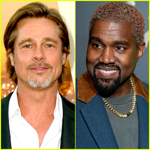Brad Pitt Attends Kanye West's Sunday Service!