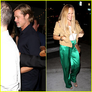 Brad Pitt Leaves 'Ad Astra' After Party With Designer Sat Hari Khalsa