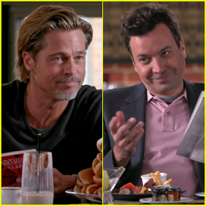 Brad Pitt & Jimmy Fallon Try to Outdo Each Other at the Bar - Watch!