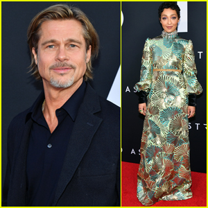 Brad Pitt & Ruth Negga Step Out for 'Ad Astra' Premiere in L.A.