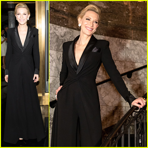 Cate Blanchett Makes Grand Entrance At Ralph Lauren Fashion Show