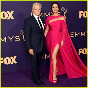 Catherine Zeta-Jones & Michael Douglas Pair Up on the Red Carpet at Emmy Awards 2019