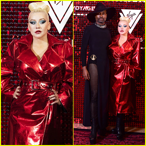 Christina Aguilera Buddies Up with Billy Porter at Virgin Voyages x Gareth Pugh Launch Party!