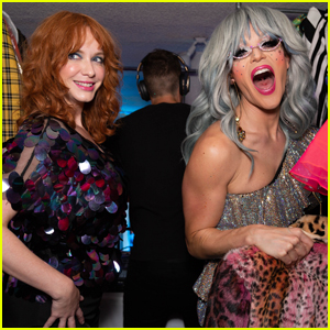 Christina Hendricks Gets Glittery For 'Coverboy' Launch Party!