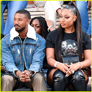 Michael B. Jordan Hangs with Megan Thee Stallion at Coach NYFW Show!
