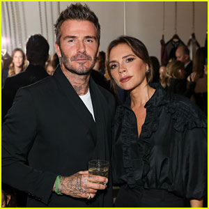 David Beckham Supports Wife Victoria at Sotheby's Celebration of Andy Warhol