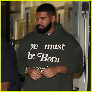 Drake Wears 'Ye Must Be Born Again' Hoodie to Lil Keed Concert