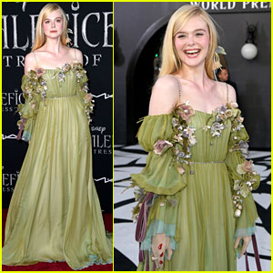 Elle Fanning Accessorizes Green Gown With Blood Drops At
