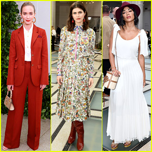 Emily Blunt, Alexandra Daddario & Nicole Scherzinger Start Their Sunday with Tory Burch Show!