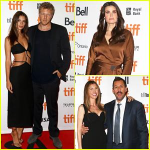 Emily Ratajkowski, Idina Menzel & Adam Sandler Celebrate 'Uncut Gems' Premiere at TIFF 2019!