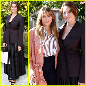 Shailene Woodley & Elizabeth Olsen Attend the Ferragamo Show in Milan!