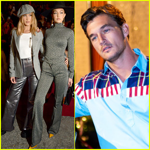 Tyler Cameron Joins Gigi Hadid & Sister Bella at Fashion Show in NYC