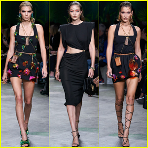 Kendall Jenner Joins Gigi & Bella Hadid on the Versace Runway!