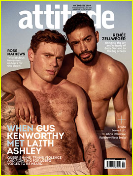 Gus Kenworthy Goes Shirtless for 'Attitude' Cover with Laith Ashley