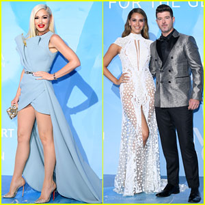 Gwen Stefani & Robin Thicke Join a Star-Studded Crowd at Gala for the Global Ocean