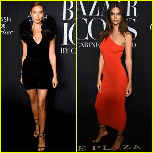 Irina Shayk & Emily Ratajkowski Get Chic at Harper's Bazaar Icons Event!