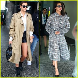 Irina Shayk & Priyanka Chopra Make Their Milan Fashion Week Arrivals