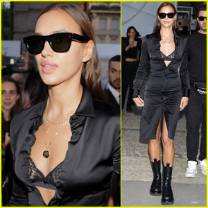 Irina Shayk Shows Off Lace Bra While Stepping Out During Milan Fashion Week!