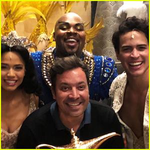 Jimmy Fallon Goes Backstage at Aladdin on Broadway!